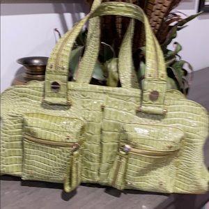Jessica Simpson  Lime  Green  Gator Shoulder Bag